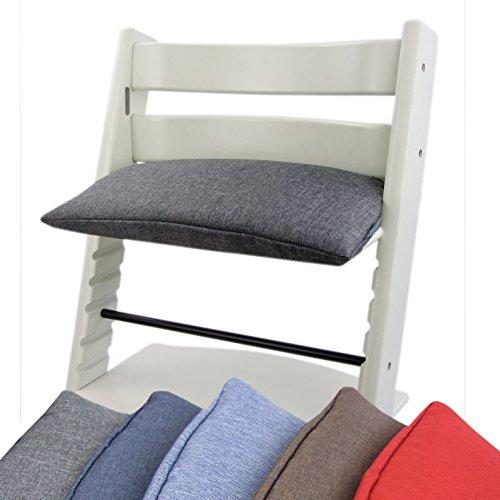 BAMBINIWELT Ersatzbezug, Kissen für Hochstuhl/Kinderstuhl Stokke Tripp Trapp, Sitzverkleinerer, 1-teilig (grau)