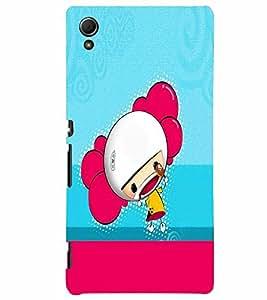 PrintVisa Cute Cartoon Girl 3D Hard Polycarbonate Designer Back Case Cover for Sony Xperia Z4