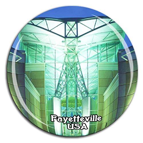 Weekino Museum für Luft- und Spezialoperationen Fayetteville Amerika USA Kühlschrankmagnet 3D Kristallglas Tourist City Travel Souvenir Collection Geschenk Starker Kühlschrankaufkleber