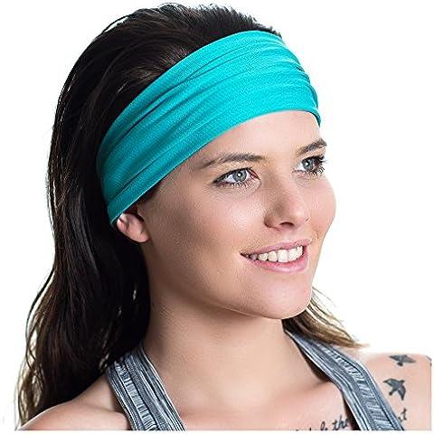 Diadema deportiva, reversible – Absorbe la humedad - Antideslizante – Banda elástica absorbente - Ideal para entrenamientos de fitness, para Correr, ir al Gimnasio, Yoga – Diseño versátil para mujeres activas