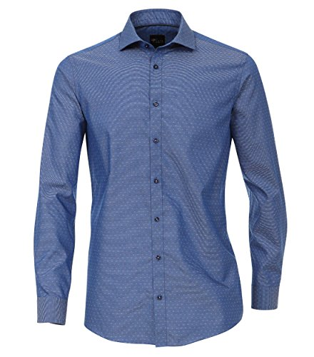 Venti Herren Businesshemd 172678900, Blau (Blau 102), 42 (Herstellergröße: L)