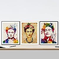 PACK de láminas para enmarcar FRIDA CREATIVA. Posters estilo acuarela. Decoración de hogar. Láminas para enmarcar. Papel 250 gramos alta calidad