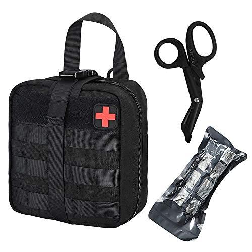 GRULLIN Borsa Pronto Soccorso, Tactical Molle Medical IFAK Rip-Away EMT Custodia Emergenza Sopravvivenza Piccola Borsa per casa, Auto, Caccia, Luogo di Lavoro, Campeggio, Viaggi