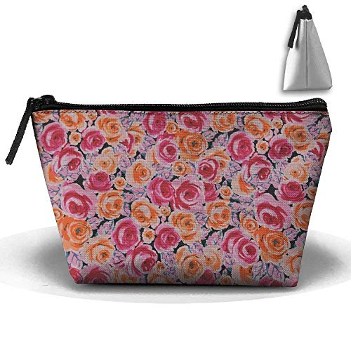 Rainbow Woodpecker Multifunction Portable Pouch Trapezoidal Storage Cosmetic Bag -