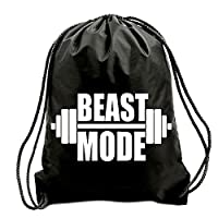 TEEZ - BEAST MODE GYM BAG, SWIMMING BAG, BAG,GYMSAC,DRAWSTRING BAG, WATER RESISTANT