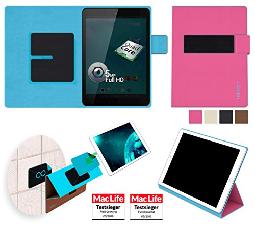 reboon Allview Viva Q8 Hülle Tasche Cover Case Bumper | Pink | Testsieger