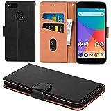 Aicoco Xiaomi Mi A1 Hülle Schutzhülle Tasche Flip Case für Xiaomi Mi A1 / Mi 5X Handyhülle - Schwarz