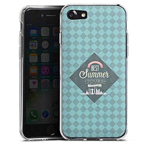 Apple iPhone X Silikon Hülle Case Schutzhülle sommer Reise Statement Silikon Case transparent