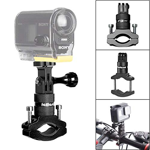 360° drehbar Actioncam Fahrradhalterung Aluminum Alloy Sportskamera Halterung/Handlebar Halterung und Action Kamera Halterung für GoPro Sportscam zum Radfahren BMX Rasante Abfahrt und Lenker