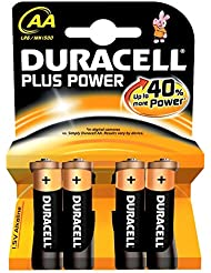 Duracell Pile Alcaline Plus Power AA 4 Piles