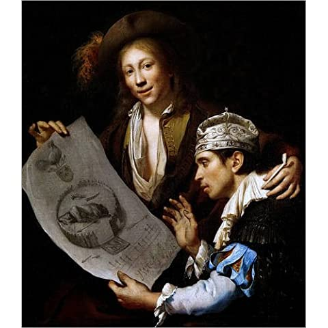 Stampa su legno 70 x 80 cm: Allegorie op de