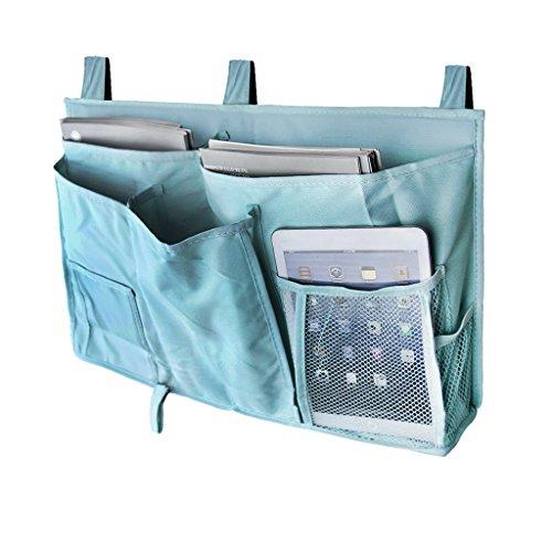 BXT Studenten Betttasche Bett-Utensilo Aufwahrungstasche Bettablage aus 600D Oxford Tuch Aufbewahrungsbehälter Organizer Behalter für Hochbett (Blau) (Brillen-halter Eule)