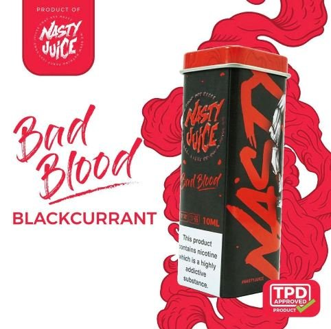 Nasty Juice 5x 10ml Bad Blood -0mg/ml Nikotinfrei