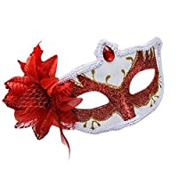 BIGBOBA Halloween Masquerade Mask for Women Retro Cute Half Face Mask for Wedding Props Fancy Dress Ball Party Costume Accessory