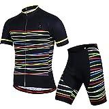 GWELL Herren Fahrradbekleidung Set Große Größen Trikot Kurzarm