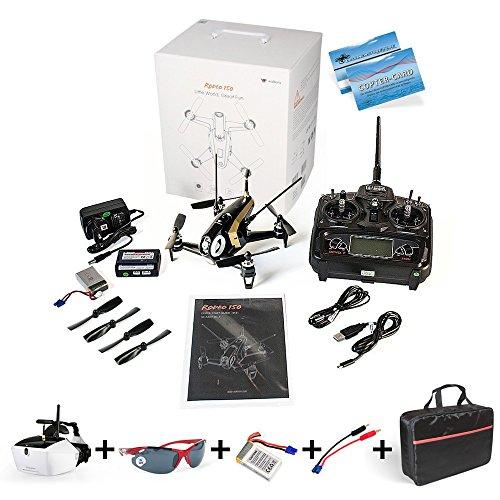 Preisvergleich Produktbild Walkera Rodeo150 SET +Goggle 4+Ersatzakku+DS24 Schnell-Ladekabel+DS24 Tasche+DS24 Fliegerbrille