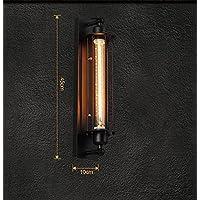 País americano Industrial Balcón Pasillo Hierro retro flauta LED lámpara de pared Barbero Salón /45 * 10cm