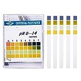100 Tiras de Prueba de PH, Kit de Papel de Prueba Universal PH 0 - 14 para Pruebas de orina de Agua, Saliva, Suelo, Alimentos, acuarios, estanques Diarios