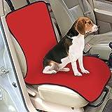 LA VIE Couverture étanche pour siège de voiture Tapis Housse de protection pour chien 105*46cm rouge