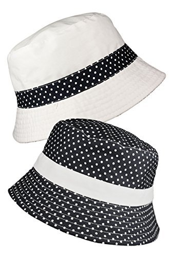 TOSKATOK® LADIES WOMENS REVERSIBLE COTTON POLKA DOT BUSH BUCKET SUN HAT Test