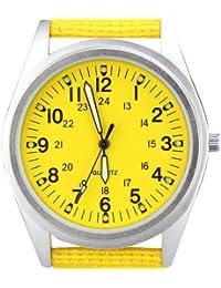 ORKINAP104SY –reloj de muñeca de cuarzo, de Plata, Amarillo, correa de tejido de nylon