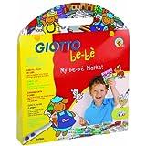 Giotto be-bè 465700 - Set con 12 rotuladores, 1 escenario, 25 pegatinas removibles y 1 tijeras de plástico