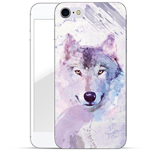 finoo | iPhone 6 / 6S Handy-Tasche Schutzhülle | ultra leichte transparente Handyhülle aus flexiblen Silikon | stylisches TPU Cover Case mit Motiv | King one schwarz Wolf gemalt