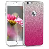 kwmobile Apple iPhone 6 Plus / 6S Plus Hülle - Handyhülle für Apple iPhone 6 Plus / 6S Plus - Handy Case in Pink Silber Transparent