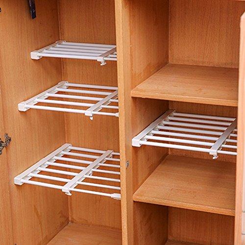 Breite Rack-schrank (Einlegeböden/Trennwand, skalierbar und verstellbar, für den Kleiderschrank, Kühlschrank, Bücherregal, Breite 24cm Length Stretch:50-80CM)