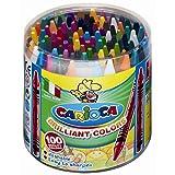 100 Wachsmalstifte in 30 Farben - Wachsmaler auswaschbar, Ø 8mm L 90mm, in Kunststoffdose