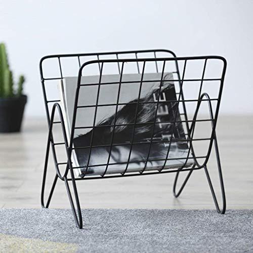 Meubles de salon modernes Rack multifonctionnel, style rétro LOFT fer art magazine cadre de débris balcon salon chambre café vitrines commerciales rack créatif 37 * 37cm style unique (couleur: noir)
