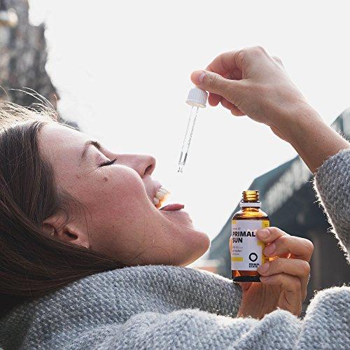 Vitamin D Tropfen PRIMAL SUN | In Kokosöl gelöst | Unabhängig zertifiziertes Vitamin D3 | Hohe Bioverfügbarkeit | Hochdosierte 1000 I.E. je Tropfen | 1150 Tropfen - 5