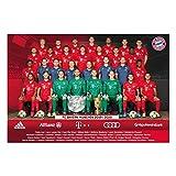 Bayern München Poster, Team Plakat, Mannschaftsposter 2019/20 FCB - Plus Lesezeichen I Love München