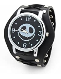 YESURPRISE 030486–Armbanduhr, Lederband schwarz