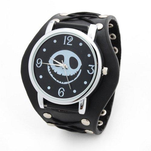 Yesurprise 030486–Reloj de pulsera, correa de piel color negro