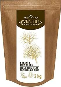Sevenhills Wholefoods Organic Raw Chia Seeds 2kg