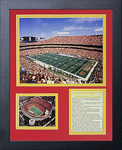 Legends Never Die Arrowhead Stadium Field Level Framed Photo Collage, 11 x 14-Inch by Legends Never Die