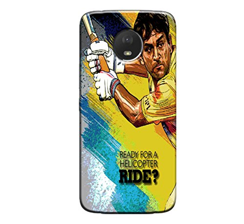 GOSMARTKART MOTO E4 PLUS HIGH QUALITY DHONI(CHENNAI SUPER KINGS) PRINTED BACK COVER