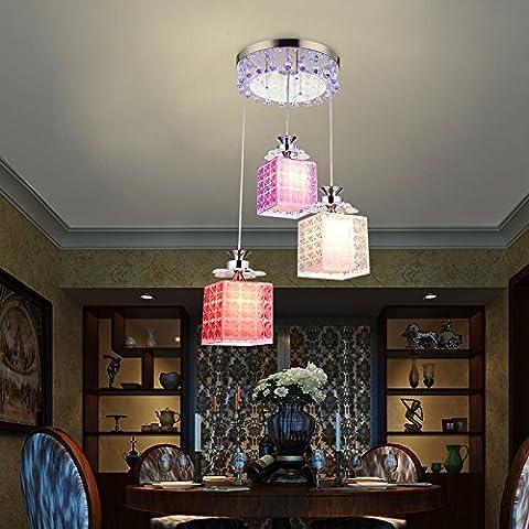 Colore lampadari di cristallo luce led minimalista