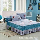 Hllhpc pour Coton Anti-Jupe de lit Simple pièce Coton Anti-Rides Dentelle Jupe de lit taie d'oreiller Star Trek 150 * 200Cm