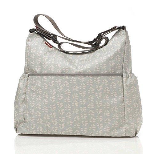 Babymel Big Slouchy Petals Changing Bag (Grey by Babymel