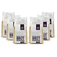 BodyChange Brotbackmischung 6er Pack - GLUTENFREI, natürlich, paleo, ohne Weizen, low carb - Dunkel mit Körnern