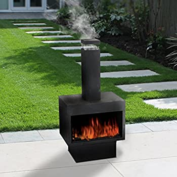 Guaranteed4Less Outdoor Fire Pit Metal Chiminea Log Wood Burner Garden  Patio Heater Fireplace