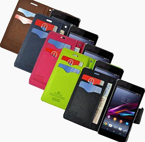 Für Sony Xperia Book Handy Tasche Flip Cover Hülle Etui Klapptasche Xperia Z2 D6503 Pink Blau Rot Blau