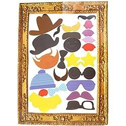 Ofoen photo booth, set di 1foto puntelli foto cornice dressed-up DIY bastoni per matrimonio, compleanno, Natale, festa di laurea (24pezzi) Multi-colored
