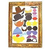 ofoen, set per photo booth, con cornice e accessori, per matrimoni, compleanni, Natale, feste di laurea (24pezzi) Multi-colored