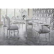Casa Padrino Barock Esszimmer Set Weiß/Weiß   Esstisch + ...