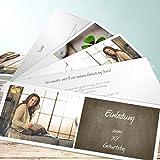 Einladungskarten zum 40 Geburtstag, Getäfelt Geburtstag 200 Karten, Kartenfächer 210x80 inkl. weiße Umschläge, Braun