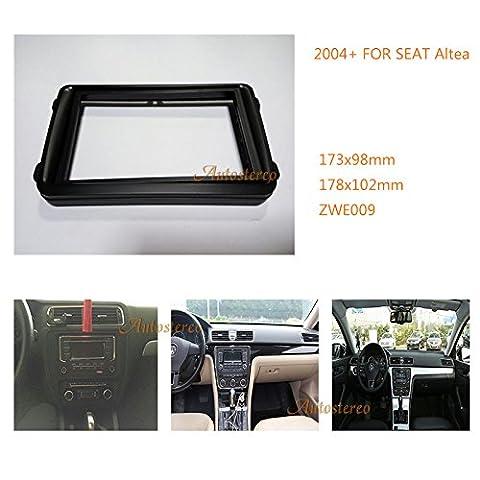 ZWNAV Double Din Car Radio Fascia Frame Panel for VOLKSWAGEN Caddy SEAT SKODA Fabia;Octavia Stereo Facia Trim Installation Kit Car Radio Mounting Frame