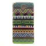 Guran® TPU Silikon Hülle für LG Bello II (5 Zoll) Smartphone Gemalt Schutzhülle Cover-ethnische Bräuche